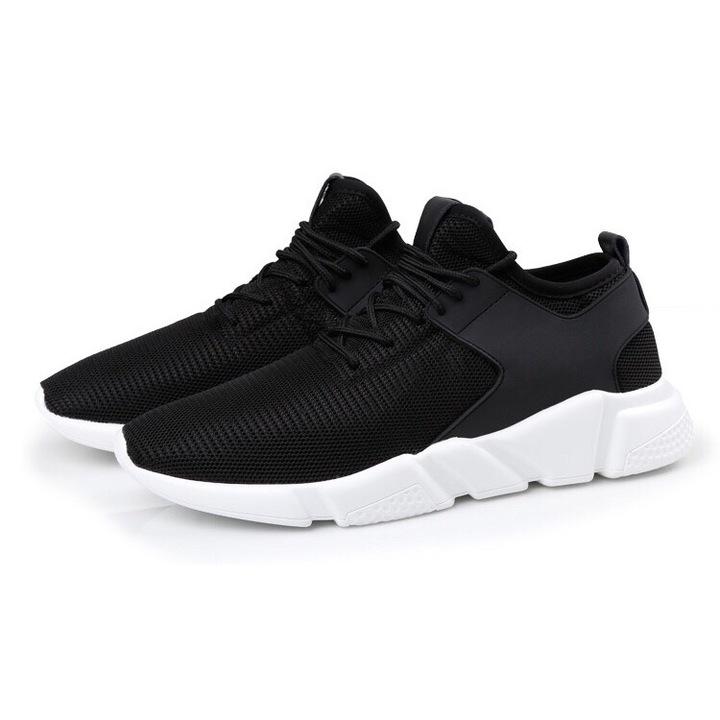 Men's Sneakers Mesh Breathable Sports Shoes Men Jogging Shoes black02 39