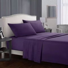 4 Pcs Bedding Sets (1 Bed cover+1 Bed sheet+2 Pillow covers) Graceful Fashion Purple Only 1 pair/2pcs Pillow covers(50*76 cm)