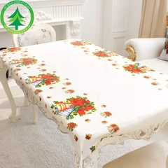 Christmas decorations rectangular table waterproof PVC plastic tablecloth Six Kinds of patterns 02 110*180cm
