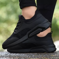 New Fashion Men's Sport Shoes Breathable Running Shoes Low Lace-Up Sneaker Casual Outdoor Shoes black01 39