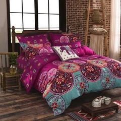 3 Pcs Bedding Sets (1 Bed cover+2 Pillow covers) Graceful Fashion Ethnic-style Printing 01 twin