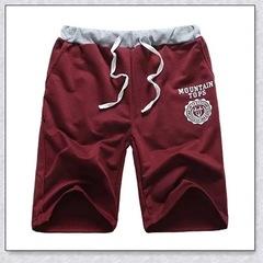 Men's Beach Shorts Summer Shorts Men Fashion Brand Breathable Casual Comfortable Shorts Red M