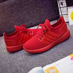 Lovers Shoes New Fashion Men's Casual Sports Shoes Outdoor Lightweight Breathable Running Shoes red 36