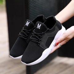 Lovers Shoes New Fashion Men's Casual Sports Shoes Outdoor Lightweight Breathable Running Shoes black 36