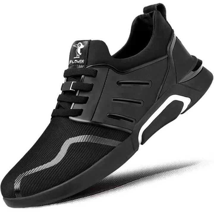 Ins Hot Sell New Fashion Men's Casual Sports Shoes Outdoor Lightweight Breathable Running Shoes black01 42
