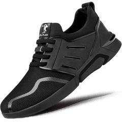 Ins Hot Sell New Fashion Men's Casual Sports Shoes Outdoor Lightweight Breathable Running Shoes black02 42