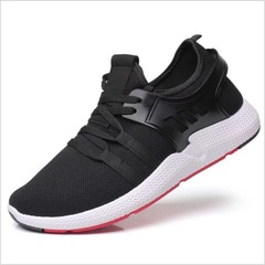 Hot Sell New Fashion Men's Casual Sports Shoes Outdoor Lightweight Breathable Running Shoes black01 39