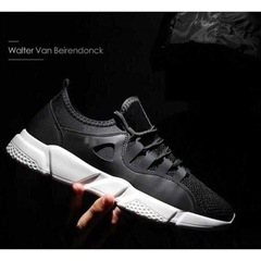 New Fashion Men's Casual Sports Shoes Outdoor Lightweight Breathable Running Shoes black01 39
