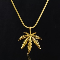 HIPHOP High Quality Pendant Necklace Men's Fashion Cool Jewelry Gift golden 51cm-80cm Alloy