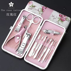 Manicure & Pedicure Set Nail Clippers 12 in 1 Stainless Steel with Portable Travel Case 01