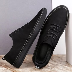 High-end Leather Shoes Head Layer Cowhide Men's Formal Shoes Business Shoes black 39 Cowhide