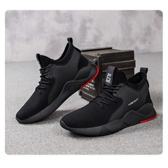 Brand Shoes New Fashion Men's Casual Sports Shoes Outdoor Lightweight Breathable Running Shoes black 39