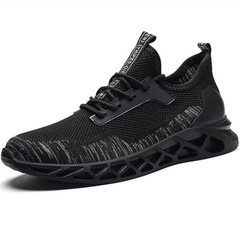 High Quality Mens Sneakers Adualts Mesh Breathable Sports Shoes Hollow Out Soles Men Jogging Shoes black01 39