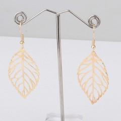 New Fashion Golden Leaf Earrings and Earrings Pandants golden 4.5 cm