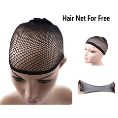 Elastic Universal Hair Wig Cap For Men And Women Nyion Elastic Woven Screen Wig Cap For Women black one color