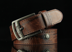 New Fashion Leisure Men Antique Needle Buckle Belt As picture one size