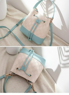 2019 New One-shoulder Bag Trend Ladies Crossbody Bags Casual Bucket Bag cyan one size