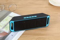 New Wireless Outdoor Bluetooth Speaker Mobile Phone Car Subwoofer Portable Card Mini Speaker blue one size