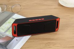 New Wireless Outdoor Bluetooth Speaker Mobile Phone Car Portable Card Mini Speaker red one size