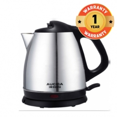 Aucma Stainless Steel Electric Kettle-1.2L Silver and Black