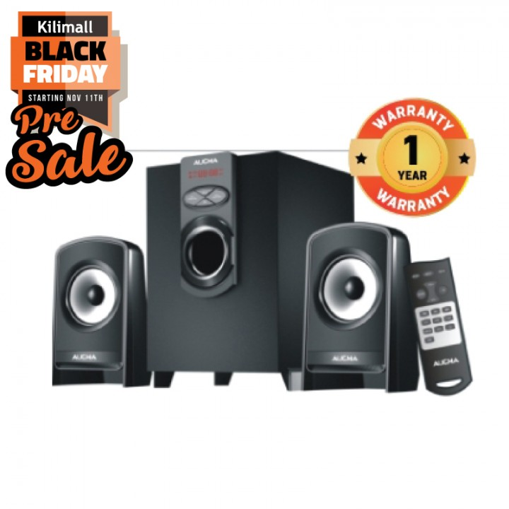 Aucma D1 2.1CH Multimedia Speaker Sound Audio System black 96W D1