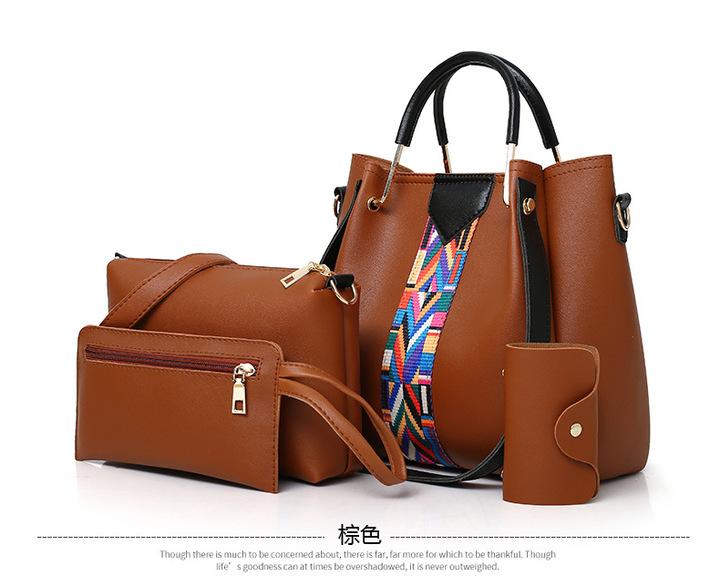 356b120261 7 Colors Classic Fashion Women Luxury Handbag PU Leather Handbags brown  Normal