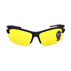 Crazy price men women night vision goggles driving anti-glare glasses unisex night vision goggles Black frame(yellow lens) normal