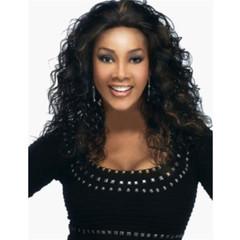 New fashion wig high temperature silk curl wig black long wigs black long