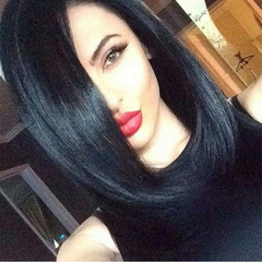 Limit promotion 3days Lady Short Straight Wigs Women Bob Haircut Wigs Hair Synthetic Wig black short
