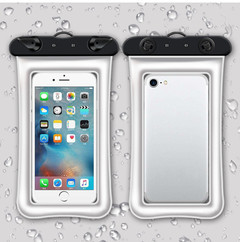 Mobile phone waterproof bag new touch screen swimming transparent waterproof bag mobile phone case white 11*19.5cm