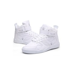 2019 Explosion Promotion Hugely Popular Men's Fashion High Uppers Running Breathable Male's Shoes white 39