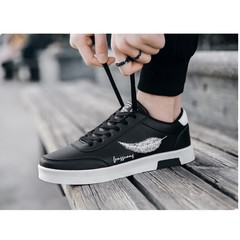 Limit discounts crazy buy 3 days quality casual men's shoes fashion breathable sneakers black 39