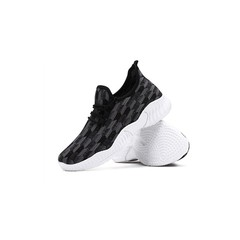 New Promotion in 2019 Lower Price Quality Running Shoes Men's Breathable Sneakers black 39