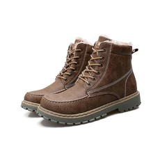 2019 Promotion Crazy Price Winter and Summer Men's Leather Boots Outdoor Warm Retro Martin Boots khaki winter 38