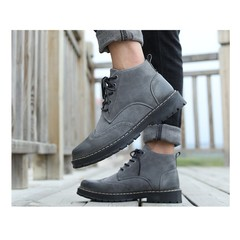 Fashion Crazy Buy in 2019 hot selling promotion men's leisure warm Martin boots grey 39