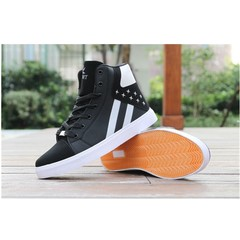 Explosion Limit Discounts Men's Leisure Sports High-Upper Board Student's Shoes black 39