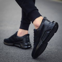 Crazy price in April limit buy men's breathable sneakers running shoes black 39
