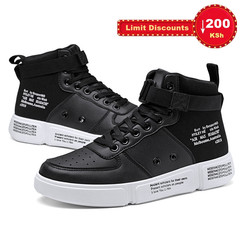 Crazy Price 3 Days Winter summer men's casual sneakers high-top male's breathable sports shoes black 42