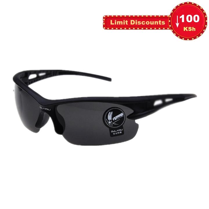 Limit Discounts sunglasses men's exclusive sunglasses for motor vehicles motorcycles Black frame(dark grey lens) Normal
