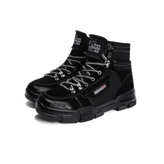 Crazy Price Amazing Purchase High-Upper Martin Boots Fashion Student Boots Men's Leisure Shoes black 39