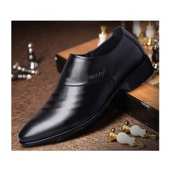 New Discount Price Crazy Purchase Leather Men Dress Pointed Toe Business Shoes black 37 pu leather