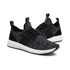 Crazy Limit Promotion Men Sneakers Comfortable Leisure Flying Weave Breathable Running Sports Shoes black 39