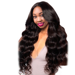 Crazy Price African Fashion Wigs Lady Middle Bangs Long Curly Hair Wigs black long