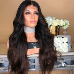 Crazy buy fashion centre parting bangs curly wigs black gradient synthetic wig as picture long