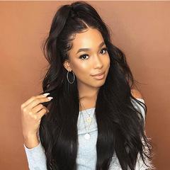 2019 New fashion African popular big wave long curly wigs hairnet cap black wig black long