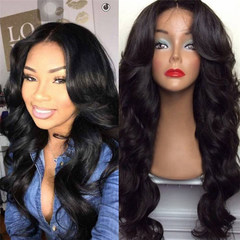 New fashion long curly hair big wave centre parting wig slightly curl wigs head cover with hairnet as picture long