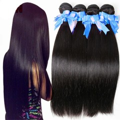 African fashion high temperature silk straight hair synthetic hair weaves black 16 inches