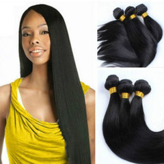 African Fashion Black Synthetic Hair Weaves Straight Hair Curtain black 16 inches