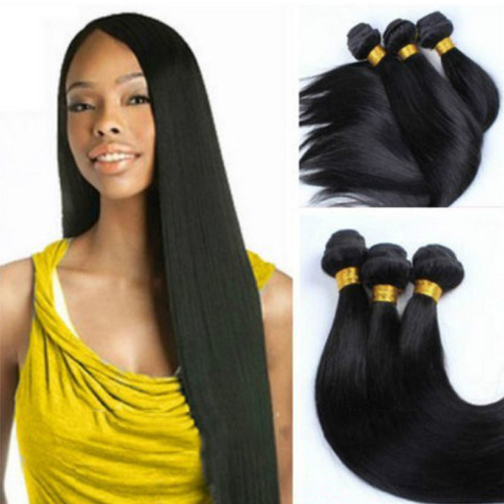 Price for one piece African Fashion Black Synthetic Hair Weaves Straight Hair Curtain black 16 inches