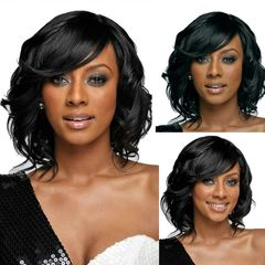 African Fashion Ladies Short Hair Curly Wigs High Temperature Silk Wig as picture short